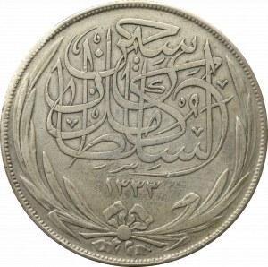 Egypt, 20 piastres 1917