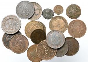 Zestaw monet miedzianych (18 egz)