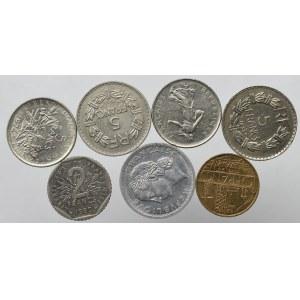 Francja, Zestaw monet (7 egz)