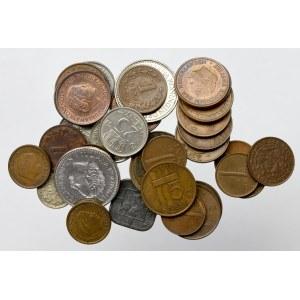 Niderlandy, Zestaw monet (43 egz)