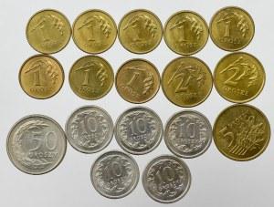III RP, Zestaw 1-50 groszy 1992-2001