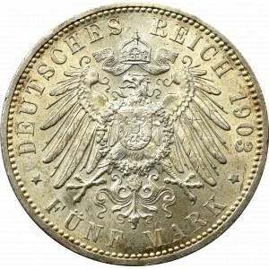 Niemcy, Hamburg, 5 marek 1903 - Piękna !