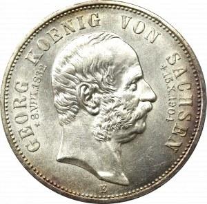 Germany, Saxony, 5 mark 1904