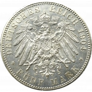 Niemcy, Hesja, Filip I, 5 marek 1904