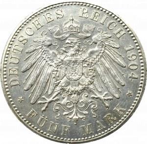 Germany, Hessen, Filip I, 5 mark 1904