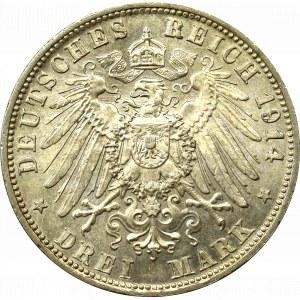 Germany, Bavaria, 3 mark 1914
