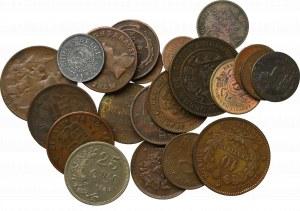 Zestaw monet niekruszcowych ( 25 egz)