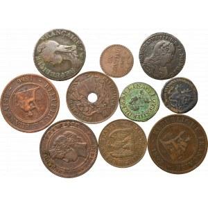 Francja, Zestaw monet miedzianych (10 egz)