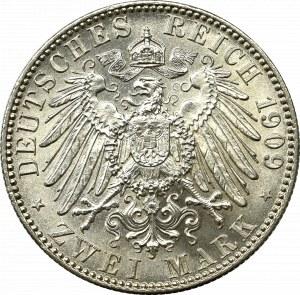 Niemcy, 2 marki 1909 - 500-lecie Uniwersytetu w Lipsku - Perfekcyjne !