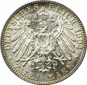 Germany, Saxony, 2 mark 1904