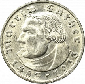 III Reich, 2 mark 1935 D Martin Luther