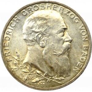 Niemcy, Badenia, 5 marek 1902