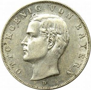 Germany, Bayern, 3 mark 1912