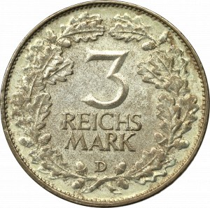 Niemcy, Republika Weimarska, 3 marki 1925