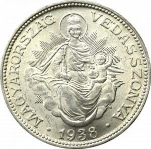 Hungary, Miklor Horthy, 2 pengo 1938 BP, Budapest