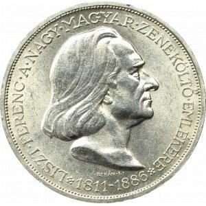 Węgry, 2 pengo 1936 Liszt Ferenc