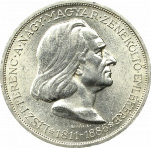 Hungary, 2 pengo 1936 Liszt Ferenc