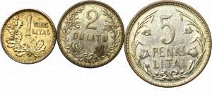 Litwa, Zestaw 1-5 litów 1925