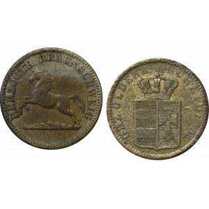 Niemcy, Zestaw 1 groschen 1857-1858