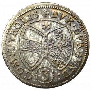 Austria, Ferdinand III, 3 kreuzer 1655