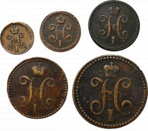 Russia, Nicholas I, Lot of 1/4-3 kopecks 1840