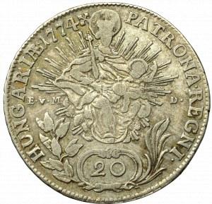 Hungary, Maria Theresa 20 kreuzer 1774