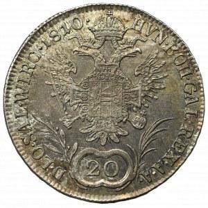 Austr0-Węgry, Franciszek I, 20 krajcarów 1810