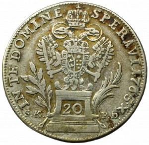 Austro-Węgry, Franciszek, 20 krajcarów 1765