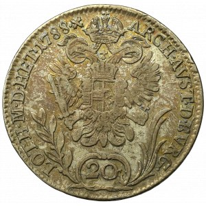 Austro-Węgry, Józef II, 20 krajcarów 1788