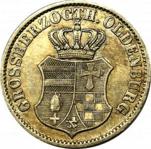Germany, Oldenburg, 2-1/2 groschen 1858