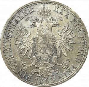 Austria, Franc Joseph, Thaler 1863 E