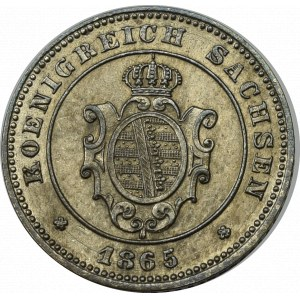 Niemcy, Saksonia, 1 grosz 1865
