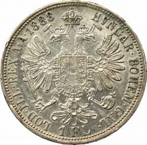 Austro-Węgry, Franciszek Józef, 1 floren 1888
