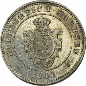 Niemcy, Saksonia, 1 grosz 1863