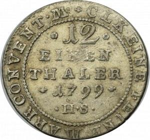 Germany, Anhalt-Bernberg, 1/12 thaler 1799