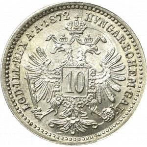 Austro-Węgry, Franciszek Józef, 10 krajcarów 1872 - Zjawiskowa !