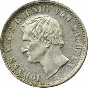Germany, Saxony, 1/6 thaler 1861