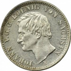 Niemcy, Saksonia, 1/6 talara 1861