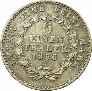 Niemcy, Anhalt-Bernburg, 1/6 talara 1856