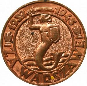 PRL, Medal Za Warszawę - próba technologiczna w miedzi