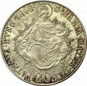 Hungary, 20 kreuzer 1848 B Kremnitz
