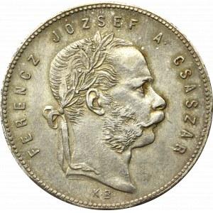 Hungary, Franz Joseph, 1 forint 1869, Kremnitz