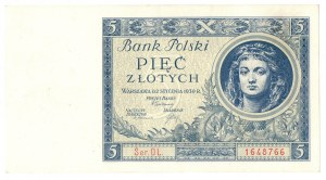 II Rzeczpospolita, 5 złotych 1930 DL. - Ex Lucow