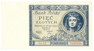 II Rzeczpospolita, 5 złotych 1930 Ser. CE
