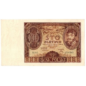 II Rzeczpospolita, 100 złotych 1932 +X+ w znaku wodnym AZ.