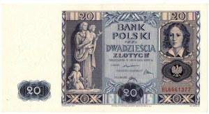 II Rzeczpospolita, 20 złotych 1936 BL - Ex Lucow