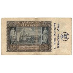 Generalne Gubernatorstwo, 20 złotych 1940 H - nadruki