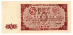 PRL, 5 złotych 1948 AC