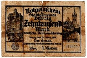 10.000 marek 1923 Gdańsk - rzadki