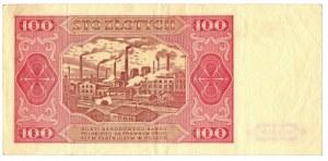 PRL, zestaw 100 złotych 1948 - 3 egzemplarze Serie : ER, KA, IH